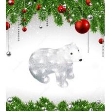 Фигурка светодиодная «Белый медведь-4» 25x31см (11037) ULD-M3125-040/STA