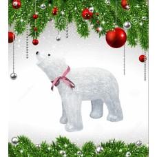 Фигурка светодиодная «Белый медведь 1» 48x60см (09563) ULD-M6048-120/STA