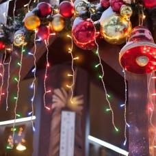 Новогодняя гирлянда Eurosvet Бахрома 1,8х0,6м 64LED мульти 100-001