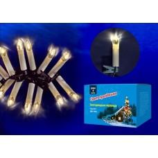 Светодиодная гирлянда (UL-00005468) Uniel Свечки 220V теплый белый ULD-S0400-020/SGA Warm White IP20 Candles