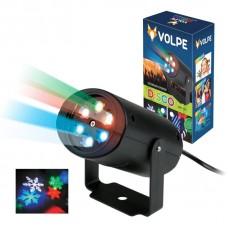 Светодиодный светильник-проектор (UL-00001187) ULI-Q306 4W/RGB BLACK SNOWFLAKE