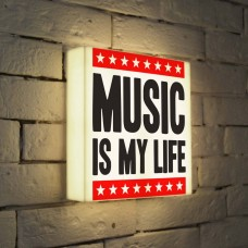 Лайтбокс Music is my life 25x25-072