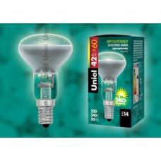 Лампа галогенная Uniel (05222) E14 42W рефлектор прозрачная HCL-42/CL/E14 Reflector