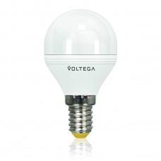 Лампа светодиодная Voltega диммируемая E14 6W 4000К шар матовый VG2-G2E14cold6W-D 5494