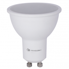 Лампа светодиодная Наносвет диммируемая GU10 8W 4000K полусфера матовая LE-MR16A-D-8/GU10/840 L241