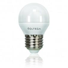 Лампа светодиодная Voltega диммируемая E27 6W 4000К шар матовый VG2-G2E27cold6W-D 5496