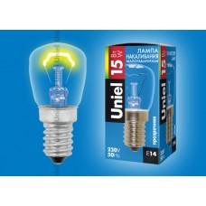 Лампа накаливания Uniel (01854) E14 15W груша прозрачная IL-F25-CL-15/E14