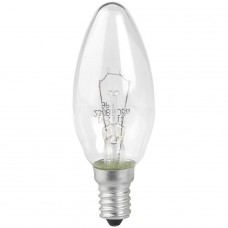 Лампа накаливания ЭРА E14 60W 2700K прозрачная ДС 60-230-E14-CL