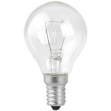 Лампа накаливания ЭРА E14 60W 2700K прозрачная ДШ 60-230-Е14 (гофра)