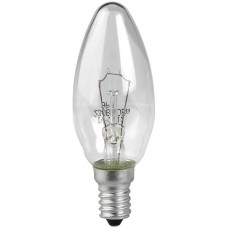 Лампа накаливания ЭРА E14 60W 2700K прозрачная ЛОН ДС60-230-E14-CL