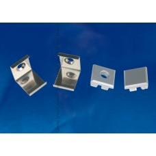 Набор аксессуаров для алюминиевого профиля (4 шт.) Uniel UFE-N05 Silver