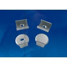 Набор аксессуаров для алюминиевого профиля (4 шт.) Uniel UFE-N07 Silver