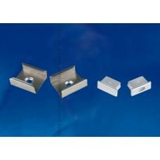 Набор аксессуаров для алюминиевого профиля (4 шт.) Uniel UFE-N02 Silver