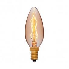Лампа накаливания Sun Lumen E14 40W свеча золотая 052-085
