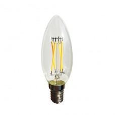 Лампа светодиодная Sun Lumen E14 4W свеча прозрачная 056-830