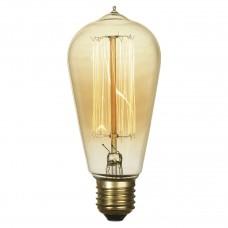 Лампа накаливания Lussole LOFT E27 60W 2700K колба прозрачный GF-E-764