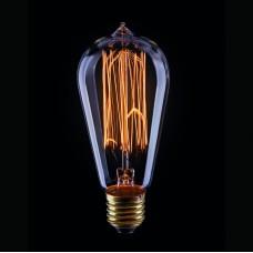 Лампа накаливания Voltega E27 60W колба прозрачная VG6-ST58A1-60W 5917
