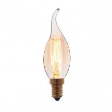 Лампа накаливания Loft IT E14 40W свеча на ветру прозрачная 3540-GL