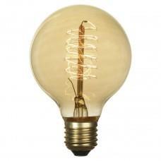 Лампа накаливания Lussole LOFT Е27 60W 2700K шар прозрачная GF-E-7125