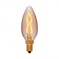 Лампа светодиодная Sun Lumen E14 4W свеча золотая 056-823