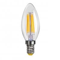 Лампа светодиодная Voltega E14 4W 4000К свеча прозрачная VG10-C1E14cold4W-F 6998