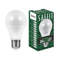 Лампа светодиодная Saffit E27 25W 6400K Шар Матовая SBA6525 55089