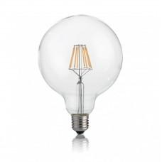 Лампа светодиодная Ideal Lux E27 8W 3000К прозрачный Classic E27 8W Globo D95 Trasp 3000K