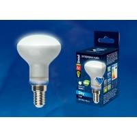 Лампа светодиодная Uniel (UL-00001492)  E14 6W 4000K рефлектор матовый LED-R50-6W/NW/E14/FR PLS02WH