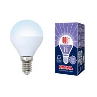Лампа светодиодная Volpe (UL-00003818) E14 7W 6500K матовая LED-G45-7W/DW/E14/FR/NR