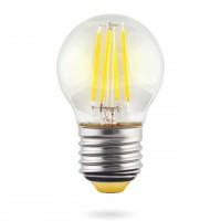 Лампа светодиодная Voltega E27 6W 4000К шар прозрачный VG10-G1E27cold6W-F 7024
