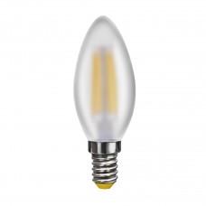 Лампа светодиодная Voltega E14 4W 2800К свеча матовая VG10-C2E14warm4W-F 6999