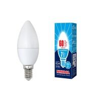 Лампа светодиодная Volpe (UL-00003795) E14 7W 4000K матовая LED-C37-7W/NW/E14/FR/NR
