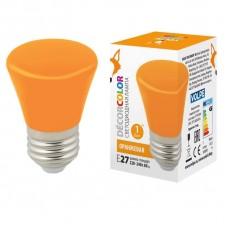 Лампа декоративная светодиодная (UL-00005642) Volpe E27 1W оранжевая матовая LED-D45-1W/ORANGE/E27/FR/С BELL