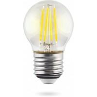 Лампа светодиодная Voltega E27 6,5W 4000K прозрачная VG10-G45E27cold9W-F 7139