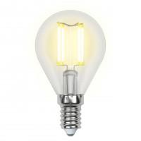 Лампа светодиодная Uniel (UL-00002207) E14 6W 4000K шар прозрачный LED-G45-6W/NW/E14/CL GLA01TR