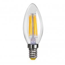 Лампа светодиодная Voltega E14 4W 2800К свеча прозрачная VG10-C1E14warm4W-F 6997