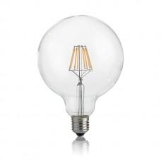 Лампа светодиодная Ideal Lux E27 8W 3000K прозрачная Classic E27 8W Globo D125 Trasp 3000K