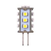 Лампа светодиодная Uniel (03972) G4 0,9W 3000K кукуруза прозрачная LED-JC-12/0,9W/WW/G4 60lm