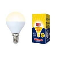 Лампа светодиодная Volpe (UL-00003832) E14 11W 3000K матовая LED-G45-11W/WW/E14/FR/NR