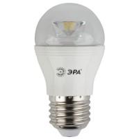 Лампа светодиодная ЭРА E27 7W 4000K прозрачная LED P45-7W-840-E27-Clear
