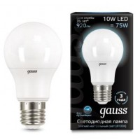Лампа светодиодная Gauss E27 10W 4100K груша матовая 102502210