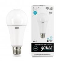 Лампа светодиодная Gauss E27 25W 4100K груша матовая 73225