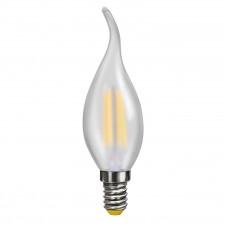 Лампа светодиодная Voltega E14 4W 4000К свеча на ветру матовая VG10-CW2E14cold4W-F 7007