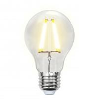 Лампа светодиодная Uniel (UL-00002210) E27 8W 3000K груша прозрачная LED-A60-8W/WW/E27/CL GLA01TR