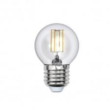 Лампа светодиодная Uniel (UL-00000196) E27 6W 3000K шар прозрачный LED-G45-6W/WW/E27/CL