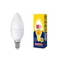 Лампа светодиодная Volpe (UL-00003796) E14 7W 3000K матовая LED-C37-7W/WW/E14/FR/NR