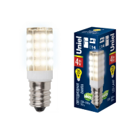 Лампа светодиодная Uniel (UL-00000179) E14 4W 3000K кукуруза прозрачная LED-Y16-4W/WW/E14/CL PLZ04WH