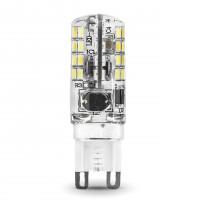 Лампа светодиодная Gauss G9 3W 2700K колба прозрачная 107709103