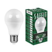 Лампа светодиодная Saffit E27 12W 6400K Шар Матовая SBA6012 55009