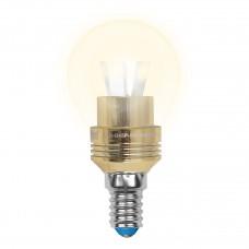 Лампа светодиодная Uniel (10061) E14 5W 3000K шар прозрачный LED-G45P-5W/WW/E14/CL ALC02GD
